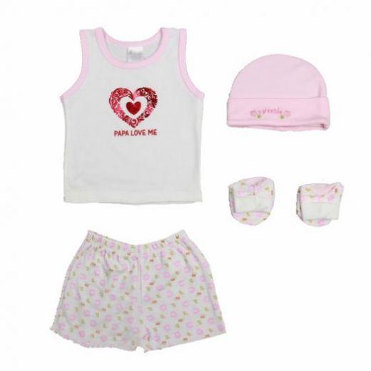"""Набор одежды для новорожденного 4 предмета """"ПАПИНА ДОЧКА"""""""